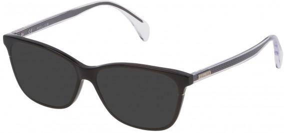 Police VPL733 sunglasses in Shiny Black