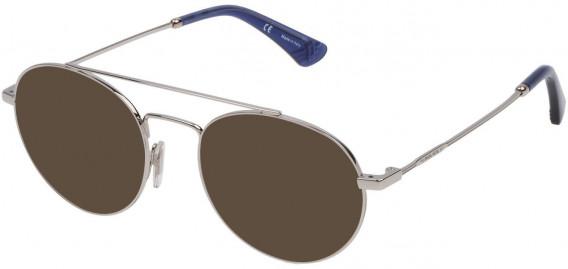 Police VPL728 sunglasses in Shiny Full Palladium
