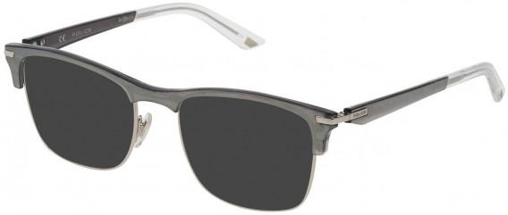 Police VPL701 sunglasses in Shiny Palladium