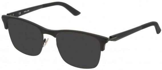 Police VPL701 sunglasses in Semi Matt Black