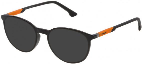 Police VPL700 sunglasses in Shiny Black