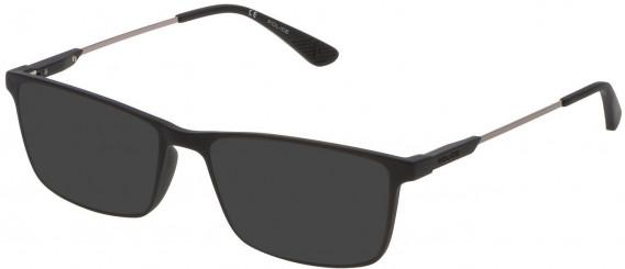 Police VPL696 sunglasses in Matt Black