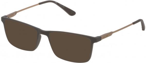 Police VPL696 sunglasses in Full Matt Grey