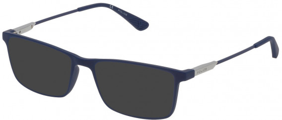 Police VPL696 sunglasses in Full Matt Blue