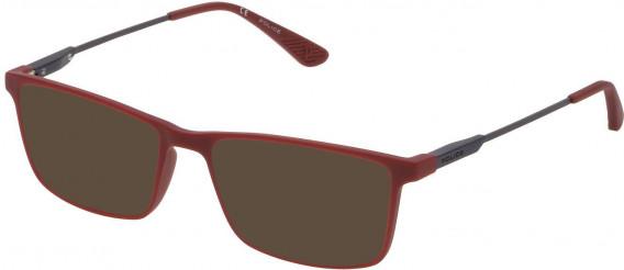 Police VPL696 sunglasses in Full Semi Matt Red