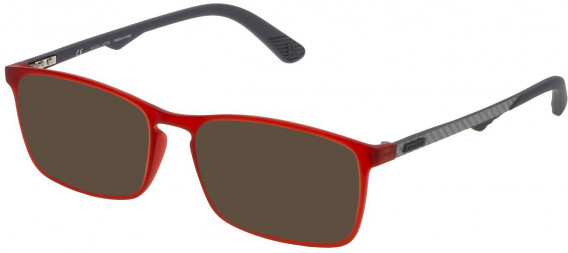 Police VPL694 sunglasses in Rubberized Opaline Red