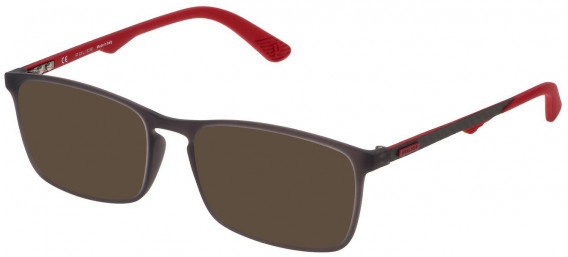 Police VPL694 sunglasses in Grey/Rubberizedized Paint