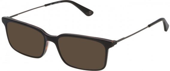 Police VPL687 sunglasses in Shiny Grey Top/Havana