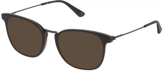 Police VPL686 sunglasses in Shiny Grey Top/Havana