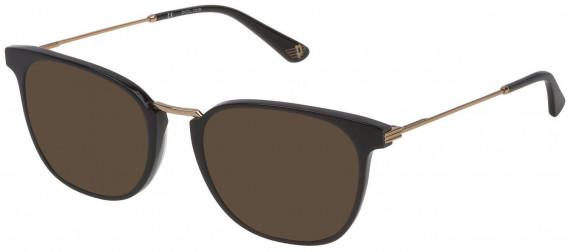 Police VPL686 sunglasses in Shiny Black