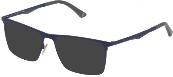 Police VPL685 sunglasses in Matt Blue