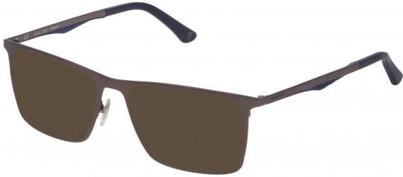 Police VPL685 sunglasses in Matt Gun Metal