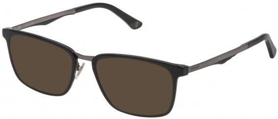 Police VPL684 sunglasses in Shiny Black