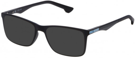 Police VPL638 sunglasses in Matt Black