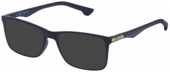Police VPL638 sunglasses in Full Blue