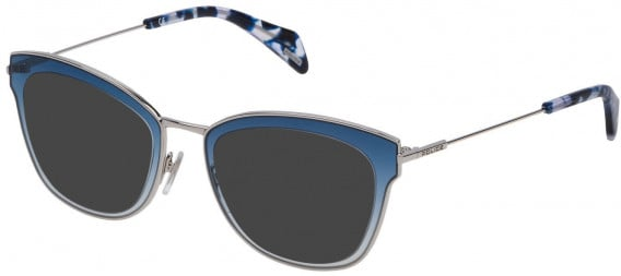 Police VPL632 sunglasses in Shiny Palladium
