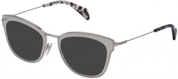 Police VPL632 sunglasses in Shiny Full Palladium