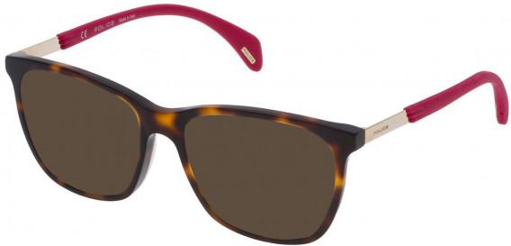 Police VPL630 sunglasses in Havana Brown
