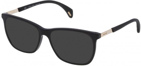 Police VPL630 sunglasses in Shiny Black