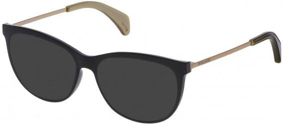 Police VPL625 sunglasses in Shiny Black
