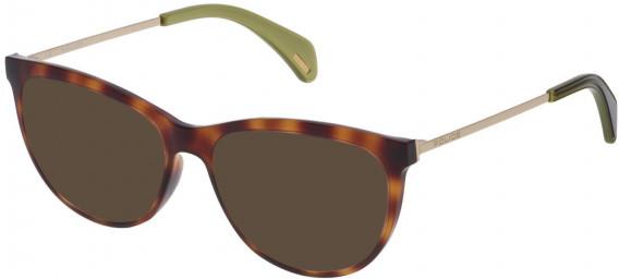 Police VPL625 sunglasses in Havana Brown