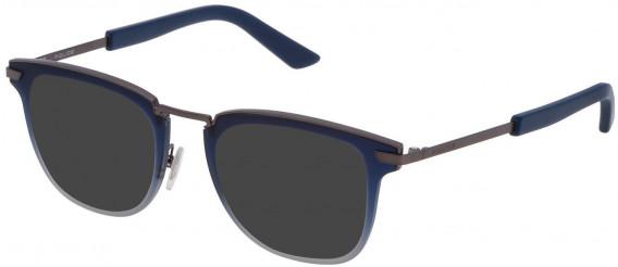 Police VPL566 sunglasses in Matt Gun Metal