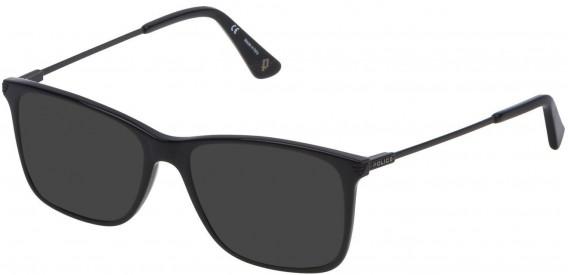 Police VPL563 sunglasses in Shiny Black