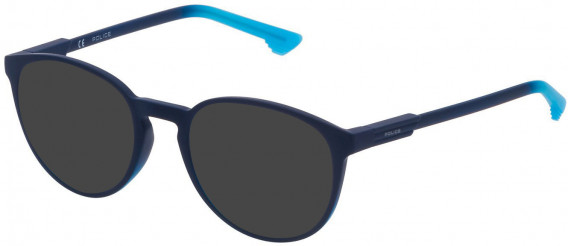 Police VPL557 sunglasses in Shiny Dark Blue/Gradient