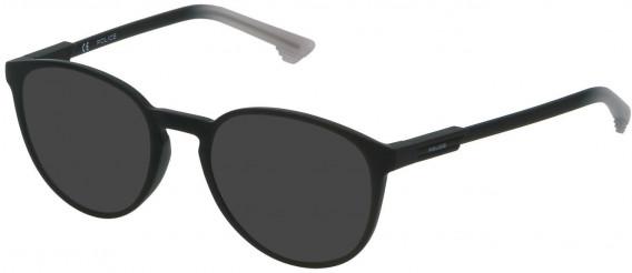 Police VPL557 sunglasses in Rubberized Black