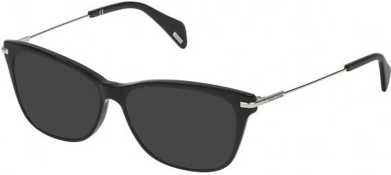 Police VPL506 sunglasses in Shiny Black