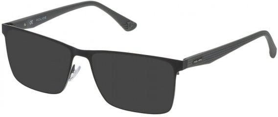 Police VPL475 sunglasses in Semi Matt Black/Grey