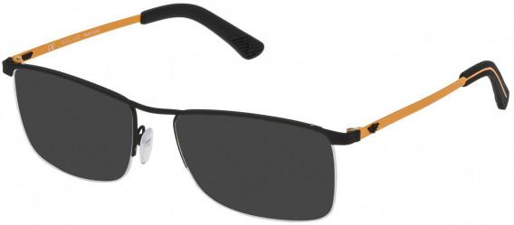 Police VPL470 sunglasses in Ruberizzed Black