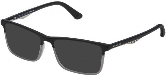Police VPL467 sunglasses in Matt Black/Grey
