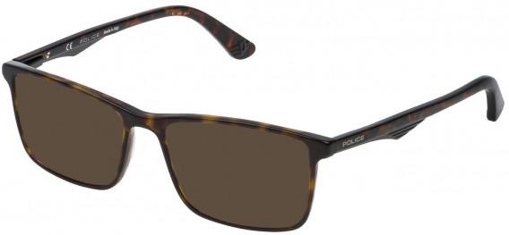 Police VPL467 sunglasses in Shiny Dark Havana