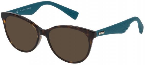 Police VPL413 sunglasses in Shiny Dark Havana