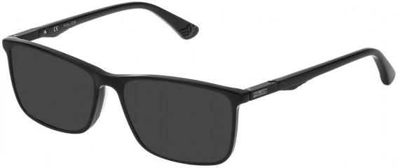 Police VPL393 sunglasses in Shiny Black