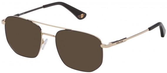 Police VK556 sunglasses in Shiny Rose Gold/Black