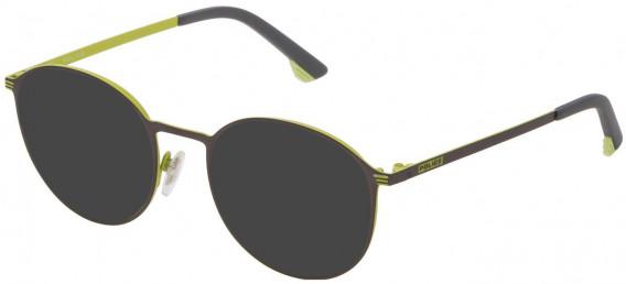 Police VK554 sunglasses in Matt Gun Metal/Yellow