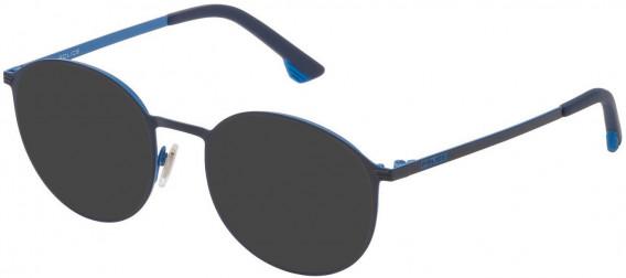 Police VK554 sunglasses in Shiny Full Blue/Full Azure