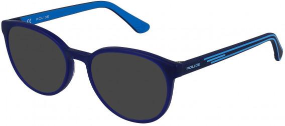 Police VK081 sunglasses in Matt Opal Blue