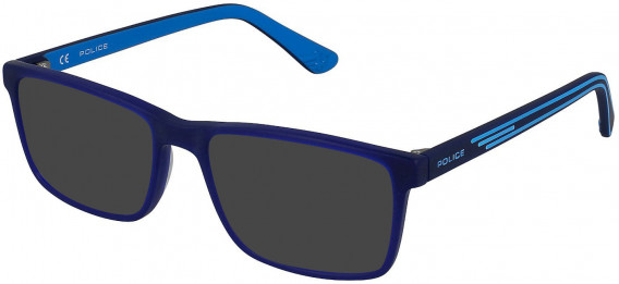 Police VK080 sunglasses in Matt Opal Blue