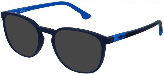 Police VK079 sunglasses in Matt Night Blue