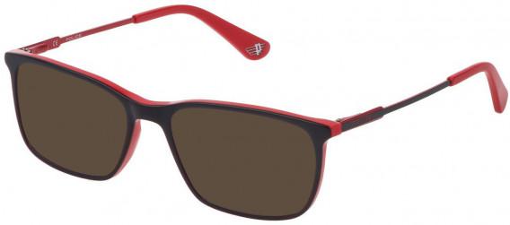 Police VK073 sunglasses in Red/Grey