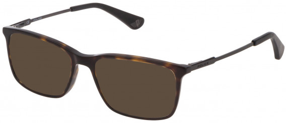 Police VK073 sunglasses in Shiny Dark Havana