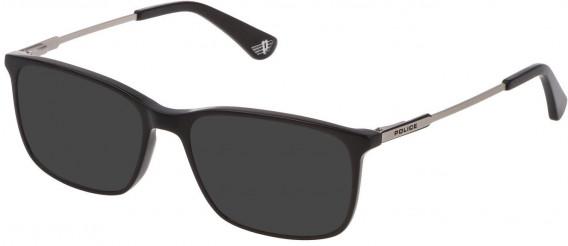 Police VK073 sunglasses in Shiny Black