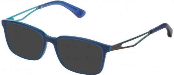Police VK072 sunglasses in Shiny Multilayer Blue