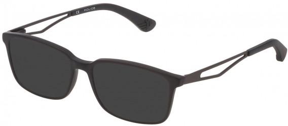 Police VK072 sunglasses in Matt/Sandblasted Black