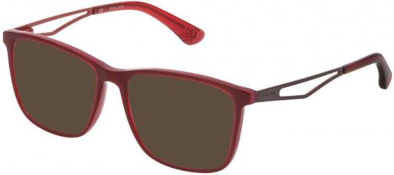 Police VK071 sunglasses in Multilayer Bordeaux