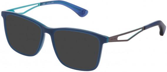 Police VK071 sunglasses in Shiny Multilayer Blue