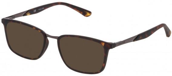 Police VK063 sunglasses in Matt Dark Havana